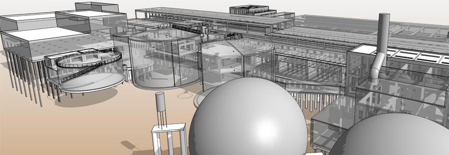 Wastewater Treatment Plant at VIGO, General View