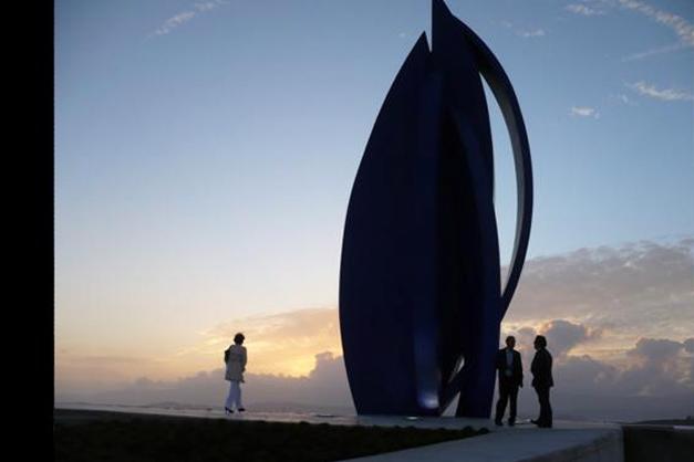 Escultura Rosa do Mar (Puerto de Vilagarcía)