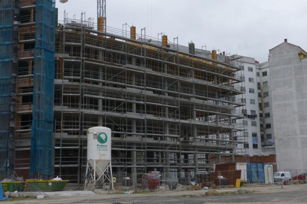 Estructura de edificios de viviendas en A Coruña