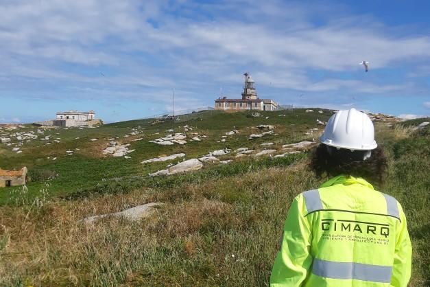 Inspección y rehabilitación de la torre del Faro de las Islas Sisargas (A Coruña)